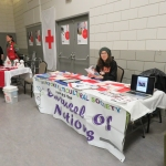 Renita Swan encouraged people to sign up to volunteer for the Revelstoke Multicultural Society's annual Carousel of Nations. The event celebrates multiculturalism in Revelstoke. Photo: Melissa Jameson.