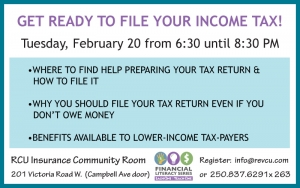 Getting Ready to File Your Taxes @ RCU Community Room | Revelstoke | British Columbia | Canada