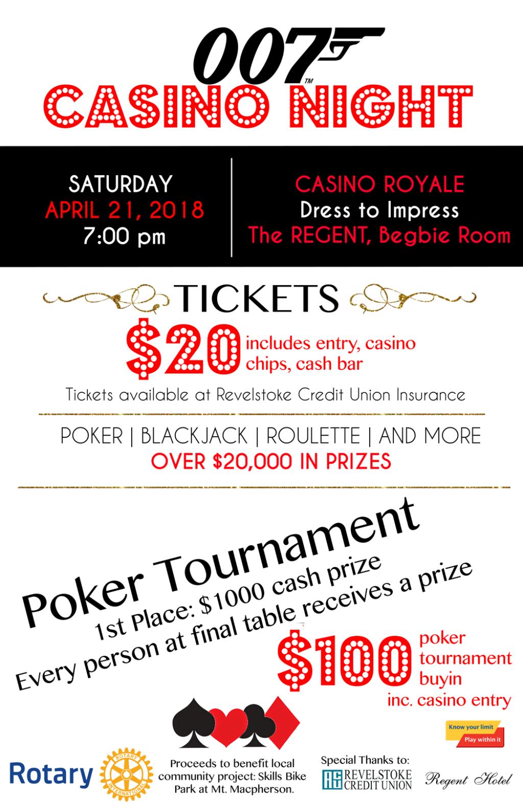 Revelstoke Rotary Casino Night and Poker Tournamnet