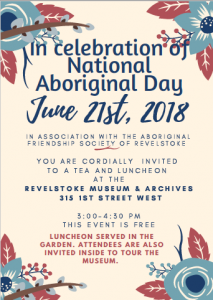 Celebrating National Aboriginal Day at the Museum and Archives @ Revelstoke Museum and Archives | Revelstoke | British Columbia | Canada