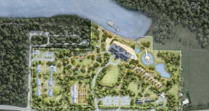 An application has been submitted to the Agricultural Land Commission to develop a 26.2 acre piece of property along the shores of Williamson's Lake. The property would house a hydroponic greenhouse, aquaponic fish farm, and promote farm to table food production, according to the proponent. The application is currently under review process by the Advisory Planning Commission for CSRD Electoral Area B, who will discuss the project on July 25. Photo: CSRD