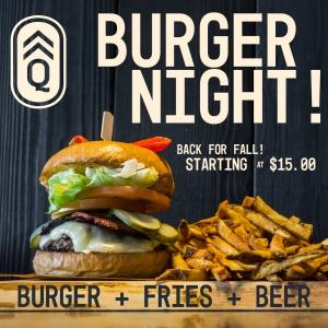 Quartermaster Burger Night @ Quartermaster Eatery | Revelstoke | British Columbia | Canada