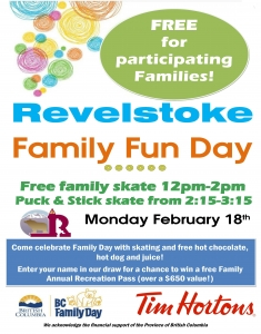 Revelstoke Family Fun Day! @ Revelstoke Arena