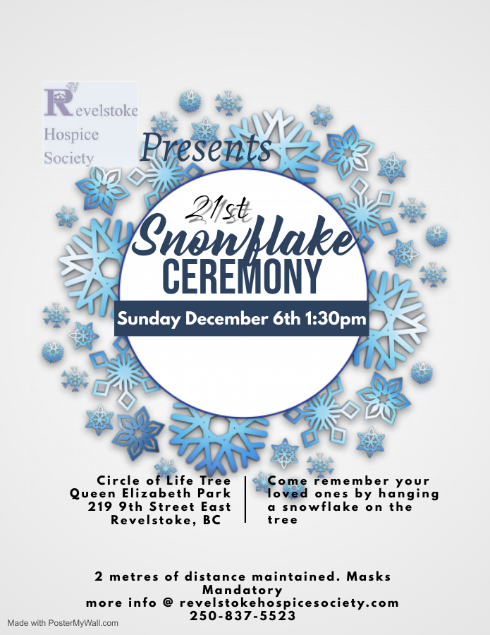 Revelstoke Hospice Society's Snowflake Ceremony