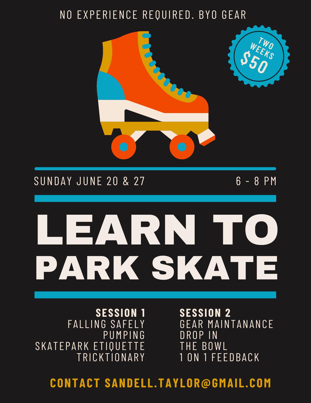 Learn to Park Skate for Roller Skates – Class 2
